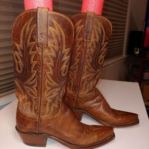 Lucchese N4540 Mad Dog Goat Leather western boots
